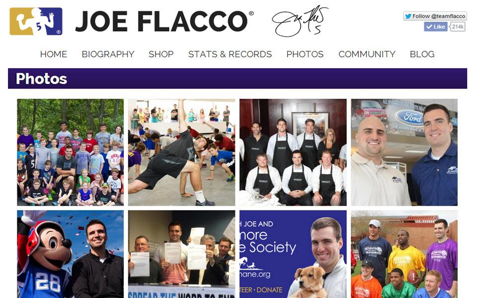 Joe Flacco Official Website - Sample 2